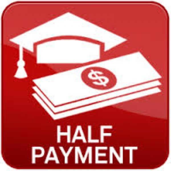 Half Tuition Payment of $75 (+$2 processing fee)
